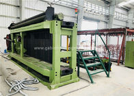 Fully Automatic Wire Coiling Machine , 100x120mm Gabion Mesh Machine PLC Control Simple Install